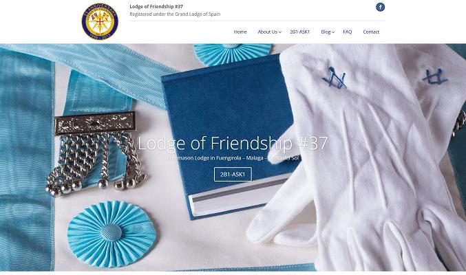 Screenshot Costa del Sol Freemasons Lodge of Friendship 37