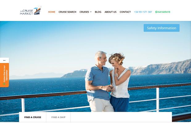 Screenshot The Cruise Market